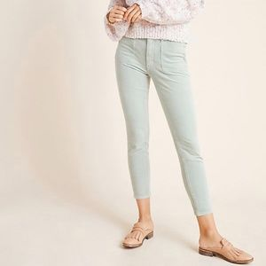 Anthropologie Pilcro Mint Corduroy Skinny Pants 26